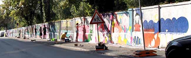 Graffiti-Tour 2018 gestartet – Jugendliche verschönern in Dortmund sieben Orte mit ihren Graffiti-Kunstwerken