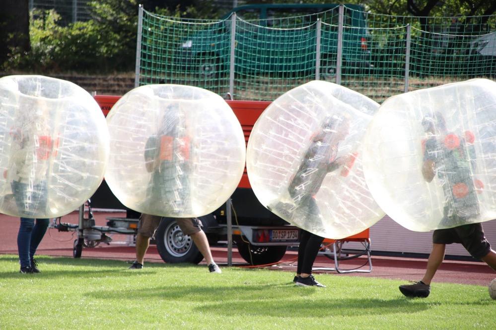 """In der """"Sport&Fun Area"""" konnten die BesucherInnen klettern, Fußball spielen und vieles mehr."""