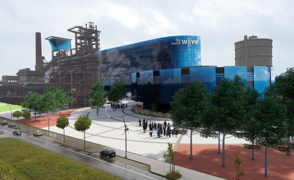 """""""Die 4. Welle"""" heißt das Projekt, das einen Neubau durch den denkmalgeschützen Hochofen vorsieht."""