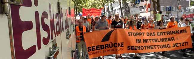 """Die """"Seebrücke-Proteststaffel"""" gegen das Sterben im Mittelmeer macht am Samstag Station in Dortmund"""