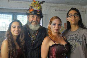 v.l. Salma Parra, Ismael Monagas, Cynthia Scholz, Rodolfo Parra
