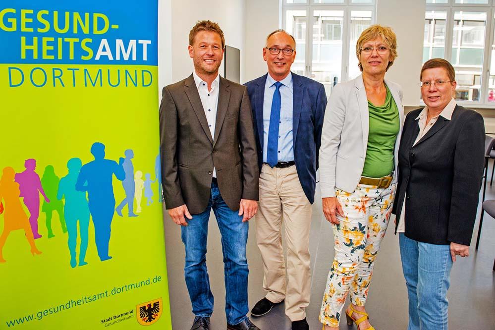 Christoph Neumann, Dr. Frank Renken, Daniela Schneckenburger und Birgit Zoerner setzen auf Prävention.