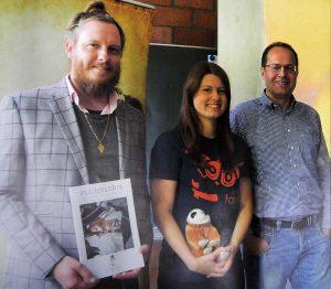 Der Vorstand des Vereins: Marcel Stawinoga, Meine Dewein und Ingo Kloppenburg.