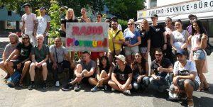 Radio Plovmund - das Team für den Audiowalk bulgarischer und dortmunder Jugendlicher