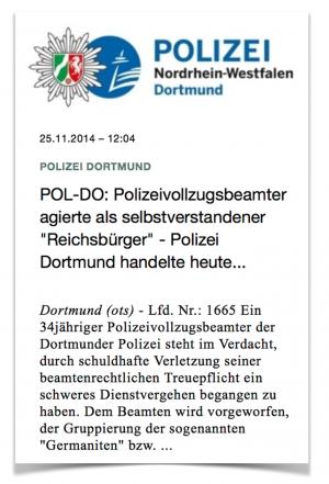 Die Polizei hatte ursprünglich selbst auf den Reichsbürger in ihren Reihen aufmerksam gemacht. (Screenshot)