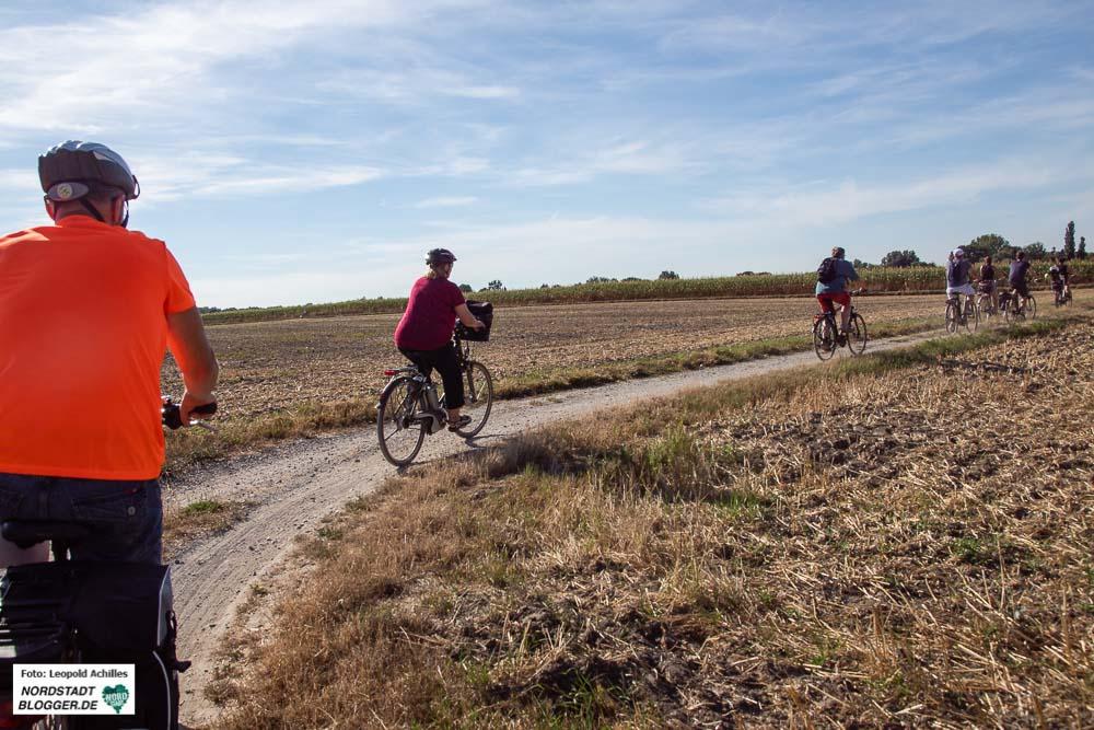 Bis zum Bahnhof Mooskamp ging die Radtour mit der grünen Ratsfraktion.