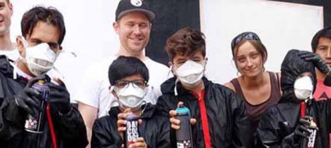 """Volle Kanne bei """"Train of Hope"""": Graffiti-Aktion """"Nordstark"""" macht mit Kindern und Jugendlichen die Nordstadt bunt"""
