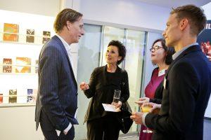 Kay Voges im Gespräch mit (v.l.) Renan Demirkan, Ann-Katherin Schulze und Dirk Baumann