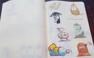 Skizzenbuch (vorläufig) gestrandeter Ideen