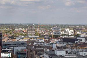 Die Nordstadt vom Stadtgarten aus gesehen.