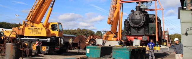 FOTOSTRECKE: Wie Loks auf Reisen gehen – Zeche Zollern schickt Dampfloks des LWL-Industriemuseums nach Bochum