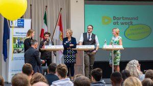 """Im Dortmunder Rathaus informierten die Verantwortlichen über das Projekt """"Dortmund at work"""". Foto: Roland Gorecki"""