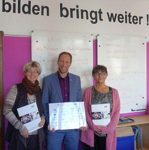 (v.l.:) Jutta Reiter, Jan Gerrit Ufer, Petra Skroblin