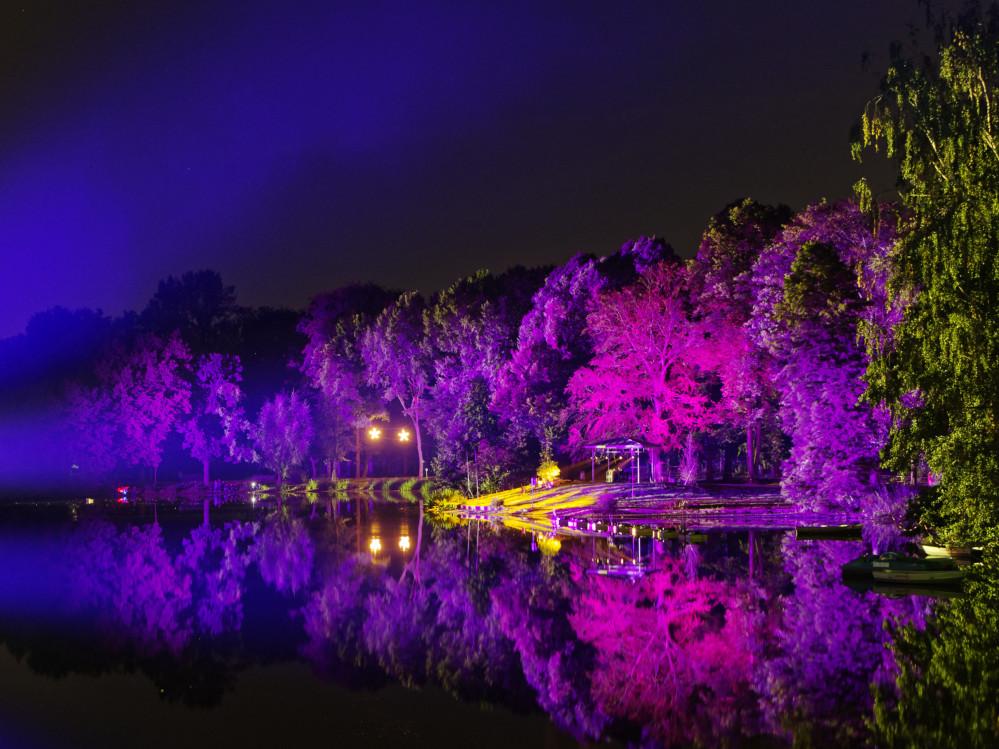 In ein Lichtermeer war der Fredenbaumpark getaucht. Fotos: Roland Klecker/ dofoto.de, Martin Biehl