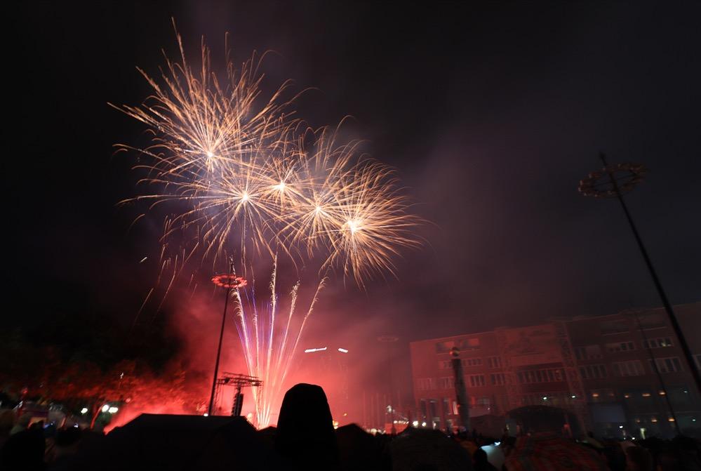 Das Höhenfeuerwerk war der krönende Abschluss der 18. DEW21-Museumsnacht.