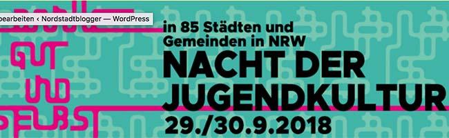 Nacht der Jugendkultur in Dortmund mit Programm von Jugendlichen für Jugendliche – Geschlafen wird später