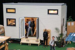 Für großes Interesse bei den Besuchern sorgten u.a. die mobilen Tiny Houses. Foto: Westfalenhallen GmbH / Foto: Anja Cord