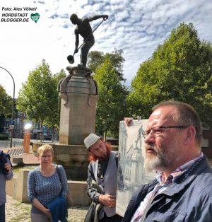 Der Eisengießerbrunnen wurde nach alten Plänen und Fotos rekonstruiert.