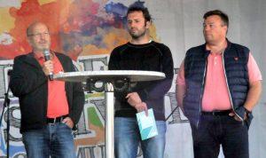 (V.l.) Bodo Weirauch, Martin Kesztyüs (BackUp), Oliver Stens