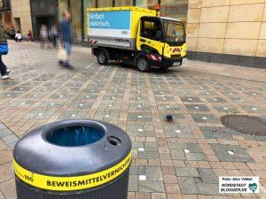 Die EDG setzt schon seit einigen Jahren kleine elektrische Müllwagen in der City ein. Foto: Alex Völkel