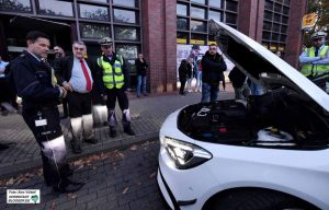 Fahrzeugkontrolle am Hauptbahnhof - eine der Kontrollstellen bei einem der Einsätze gegen Clan-Kriminalität.