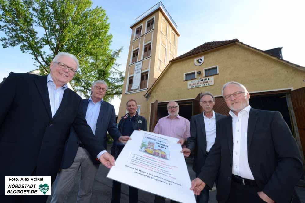 """Im Jahr 2014 gründeten engagierte Bürgerinnen und Bürger des Dortmunder Stadtteils Berghofen eine parteilich und konfessionell unabhängige Initiative mit dem Namen """"Unsere Mitte Steigerturm""""."""