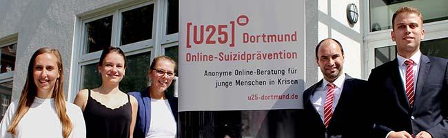 Einsatz für das Leben: Online-Suizidpräventionsprojekt [U25] erhält Spende über 8.000 Euro von der Sparkasse Dortmund