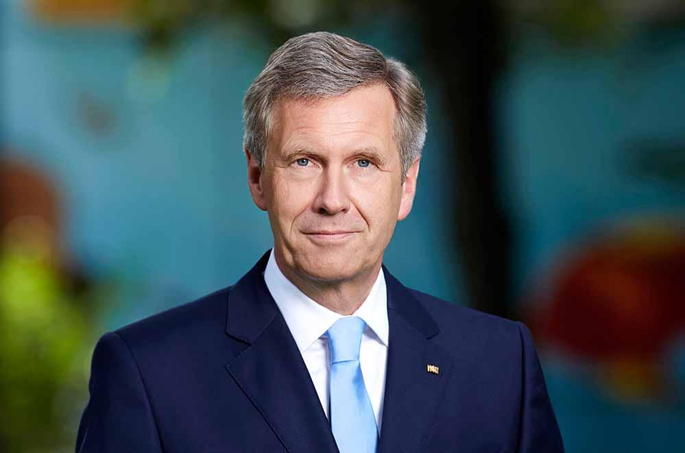 Bundespräsident a.D. Christian Wulff. Foto: Laurence Chaperon