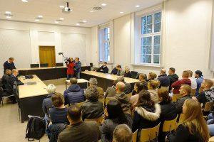 Großes BesucherInnen-Interesse gab es an den drei Verhandlungstagen.