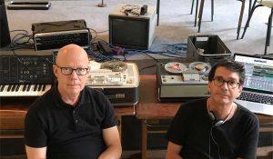 Das Duo BLOORT mit Veranstalter Karl-Heinz Blomann (l.) und Richard Ortmann. Foto: Karl Ortmann