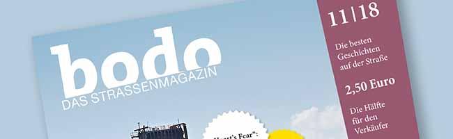 """""""bodo"""" ‑ das Straßenmagazin im November 2018"""