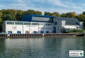 Bootshäuser am Dortmund-Ems-Kanal heute. Ruderclub Hansa. Foto: Klaus Hartmann