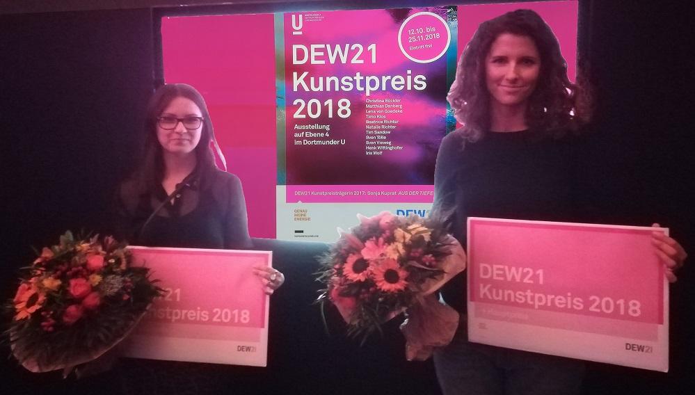 DEW21 Kunstpreis 2018 Beatrice Richter (li) und vertretend für von Goedeke Fotos: Gerd Wüsthoff
