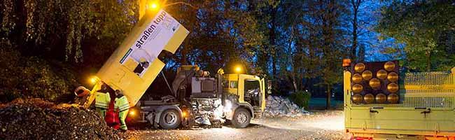 5300 Tonnen Blätter auf den Straßen: Im Herbst hat die Laub-Beseitigung Vorrang vor der klassischen Straßenreinigung