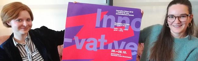 """Das Festival """"Innovative Citizen 2018"""" zum fünften Mal in Dortmund im """"U"""" und in der Werkhalle Union Gewerbehof"""