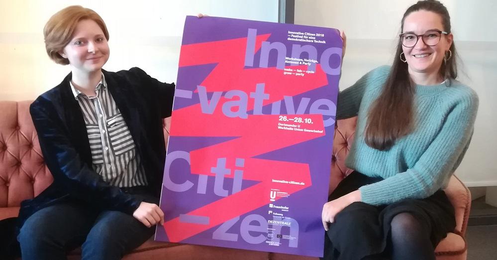 Die Innovative Citizen Organisatoren (vl) Judith Schanz und Julia Krayer. Fotos: Gerd Wüsthoff