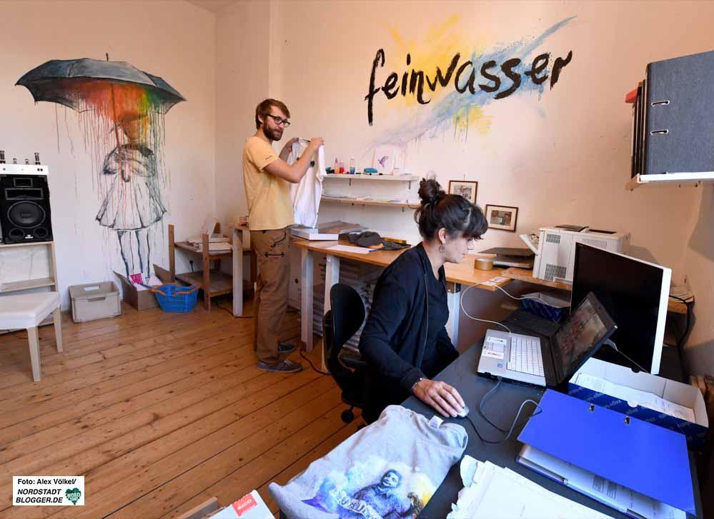 """Das Start-Up """"Feinwasser"""" ist in der Nordstadt zu Hause. Fotos: Alex Völkel"""