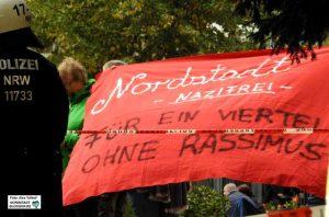 Protest gegen die Neonazi-Kundgebungen in der Nordstadt (Foto) und Sonnenplatz. Foto: Alex Völkel