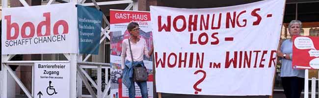 """Infos zum Welttag der Armut: Gast-Haus, Kana, Suppenküche Wichern und """"bodo"""" laden vor das Dortmunder Rathaus"""