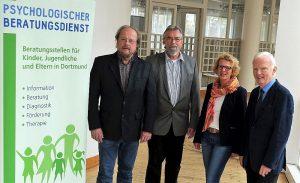 (v.l.:) Alfred Hennekemper, Friedhelm Sohn, Annette Frenzke-Kulbach und Reinert Hanswille