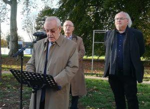 Weiß, wovon er spricht: Manfred Sauer - hier am 9. November 2018 anlässlich einer Gedenkfeier zur Pogromnacht.