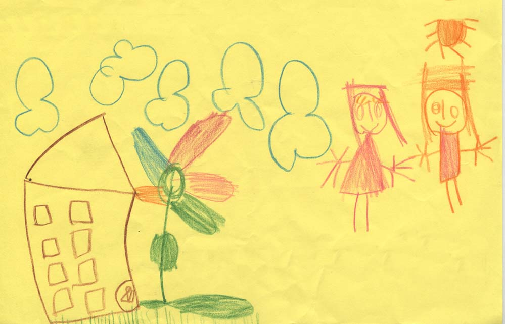 Ein niedlich gestalteter Wunschzettel einer vierjährigen Dortmunderin. Schon kleine Geschenke können Kinderaugen strahlen lassen. Foto: Aktion Kinderwünsche