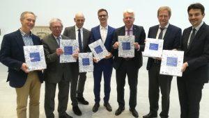 Dortmund Bauen, v.l. Sonne, Nellen, Steenweg, Rüther, Sierau, Wilde, Paetzel