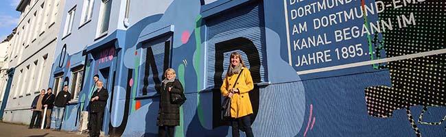 Das können Sie auch! StreetArt-Fassade im Hafenquartier begrüßt BesucherInnen beim Eintritt in die Nordstadt