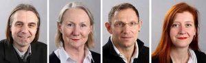 Utz Kowalewski, Dr. Petra Tautorat, Thomas Zweier und Nadja Reigl stellten die Forderungen von Linken und Piraten vor.