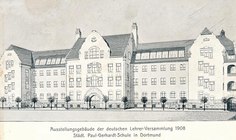 Ursprüngliches Aussehen der heutigen Grundschule Kleine Kielstraße (Sammlung Klaus Winter