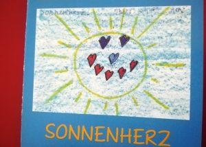 Das von Kindern entworfene Logo des Kinderhospiz Sonnenherz der Elisabeth Grümer Stiftung