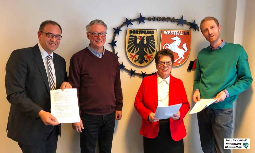 Sascha Mader, Udo Reppin, Christiane Krause und Jendrik Suck stellten die CDU-Vorschläge vor. Foto: Alex Völkel