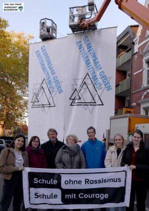 Mehrere hundert Menschen setzten zum 9. November Akzente gegen Antisemitismus und Rechtsextremismus.
