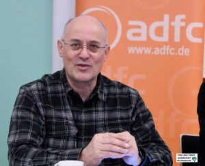 ADFC-Vorstand Michael Kleine-Möllhoff, zuständig für Radschnellwege und Infrastruktur.